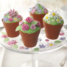 silicone flowerpot cupcake cases