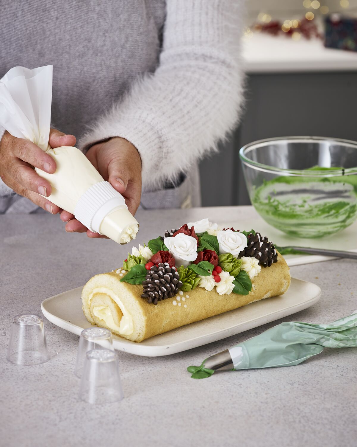 Winter Floral Roulade