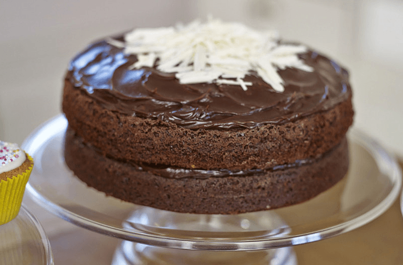 Chocolate Cake Ganache Icing Boiling Water