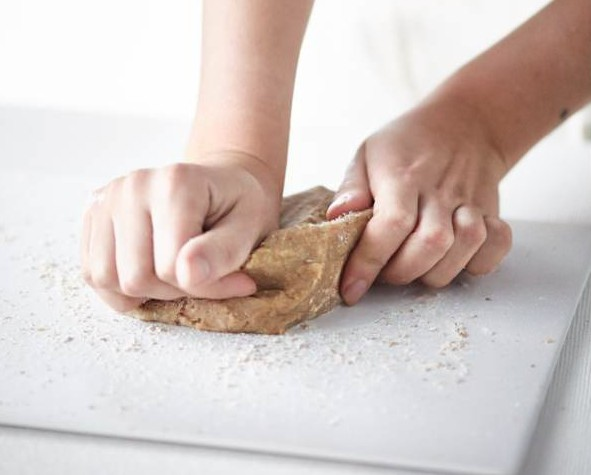 kneading pastry by hand