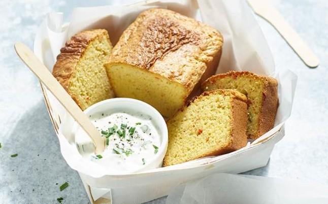 Chilli Amp Spring Onion Cornbread With Summer Herb Spread Recipe
