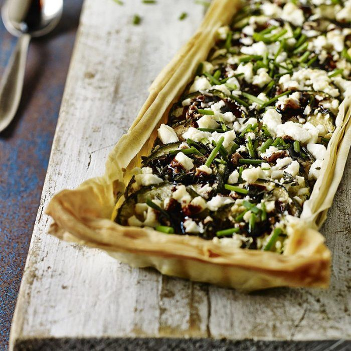 Feta & Courgette Filo Tart recipe