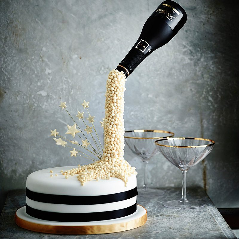 Images Of Birthday Cake And Champagne : NEW YEAR CHAMPAGNE CAKE - Lakeland Blog